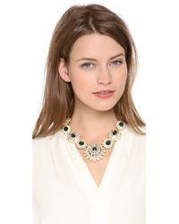 Kenneth Jay Lane | Green Crystal Statement Necklace | Lyst