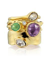 Monica Vinader | Purple Siren Stacking Ring | Lyst