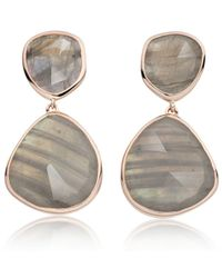 Monica Vinader | Gray Siren Cocktail Earrings | Lyst