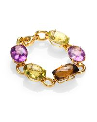 Roberto Coin | Metallic Semiprecious Multistone 18k Gold Ipanema Bracelet | Lyst