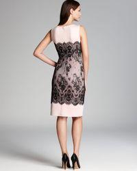 Tadashi Shoji | Black Laceprint Neoprene Sheath Dress Sleeveless | Lyst