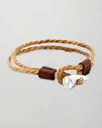 JvdF - Metallic Sterling Silvertoggle Rope Wrap Bracelet - Lyst