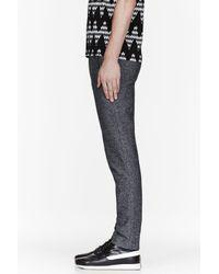 Kris Van Assche - Gray Mottled Grey Tweed Trousers for Men - Lyst