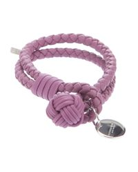 Bottega Veneta | Purple Woven Bracelet | Lyst