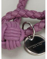 Bottega Veneta - Pink Woven Bracelet - Lyst