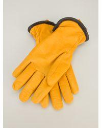 Filson - Yellow Lined Goatskin Gloves for Men - Lyst