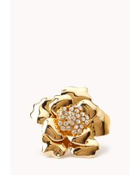 Forever 21 - Metallic Glam Floral Ring - Lyst