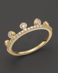Khai Khai - Metallic Diamond Crown Ring In 18K Yellow Gold, 0.45 Ct. T.W. - Lyst