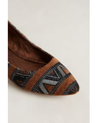Matisse - Brown Mexicali Embroidered Flats - Lyst