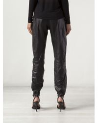 Rag & Bone | Black Leather Pajama Jeans | Lyst