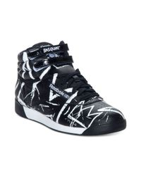 Reebok | Black Basquiat Freestyle Hi Athletic Casual Sneakers | Lyst