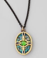 Armenta | Green Opal Mosaic Pendant Necklace 17l | Lyst
