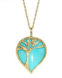 Elizabeth Showers - Blue Tree Of Life Turquoise Pendant Necklace - Lyst