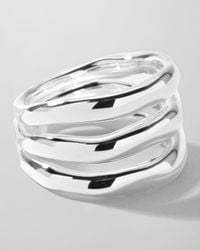 Ippolita - Metallic Sterling Silver Smooth 3-Layer Ring - Lyst