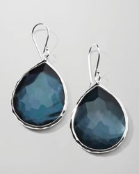 Ippolita - Blue Sterling Silver Wonderland Teardrop Earrings In Indigo - Lyst