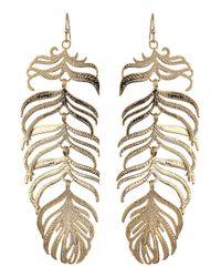 Kendra Scott | Metallic Farrah Feather Earrings | Lyst