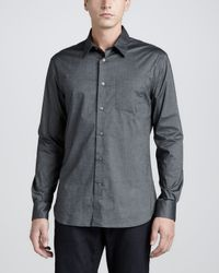 John Varvatos | Onepocket Longsleeve Shirt Dark Gray for Men | Lyst