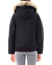 Canada Goose - Gray Aosta Fur Trim Quilted Coat - Lyst