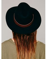 Hat Attack - Black Leather Banded Floppy H - Lyst