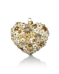 Jay Strongwater - Metallic Blossom Heart Ornament - Lyst