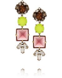 J.Crew | Yellow Pablo Crystal Drop Earrings | Lyst