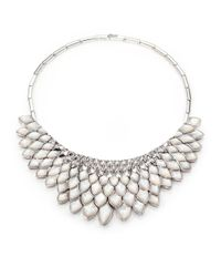 Stephen Webster | Metallic Mother-Of-Pearl And Sterling Silver Bib Necklace | Lyst