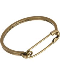 Giles & Brother | Metallic Safety Pin I.d. Cuff Bracelet for Men | Lyst