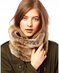 ALDO - Natural Barts Faux Fur Snood - Lyst