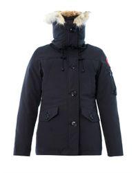 Canada Goose   Blue Montebello Furtrim Down Coat for Men   Lyst