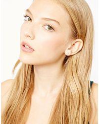 Orelia - Metallic Sparkle Star Studs Earrings - Lyst