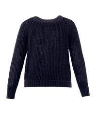 Rag & Bone   Blue Kendall Cotton Sweater   Lyst