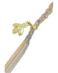 Carolina Bucci - Metallic Lucky 18karat Gold and Silk Charm Necklace - Lyst