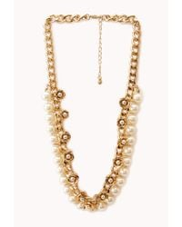 Forever 21 | Metallic Opulent Faux Pearl Necklace | Lyst