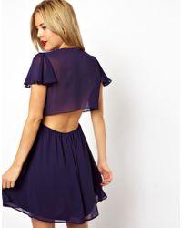 ASOS   Purple Open Back Wrap Dress   Lyst