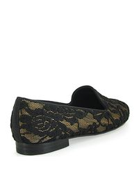 Jon Josef - Metallic Gatsby Lace Loafer in Black - Lyst