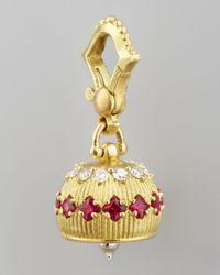 Paul Morelli | Metallic 18k Diamond/ruby Meditation Bell Pendant | Lyst