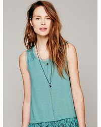 Free People - Blue Serefina Womens Vintage Deco Heart Rosary - Lyst