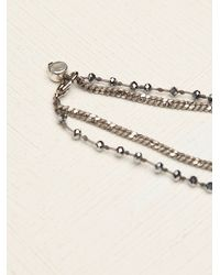 Free People | Metallic Serefina Womens Vintage Deco Heart Rosary | Lyst