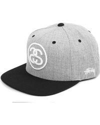 d04876f09e3 Stussy Sslink Twotone Snapback Cap in Gray for Men - Lyst