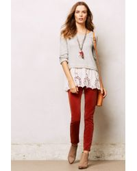 Anthropologie | Gray Lace Skirt Sweatshirt | Lyst