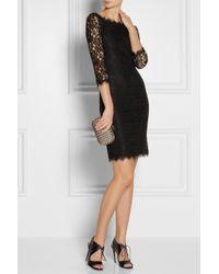 Diane von Furstenberg | Black Zarita Lace Dress | Lyst