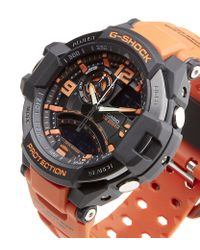 G-Shock - Orange Gravity Defier Aviator Watch for Men - Lyst