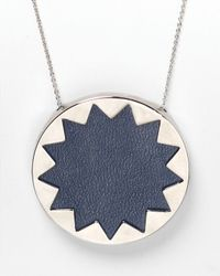 House of Harlow 1960 - Blue Sunburst Pendant Necklace 26 - Lyst