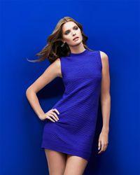 M Missoni - Blue Sleeveless Honeycomb Knit Dress - Lyst