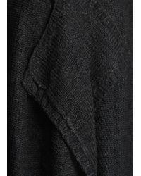 Mango - Black Reverse Knit Waterfall Cardigan - Lyst