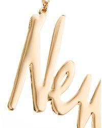 PUMA - Metallic Asos New York Necklace - Lyst