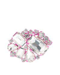 Elle Macpherson - Pink Asos Color Jewel Brooch - Lyst