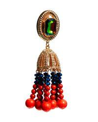 ASOS - Red Shamen Bell Tassle Earrings - Lyst