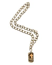 G-Star RAW - Metallic Classics 77 Large Link Dogtag Necklace for Men - Lyst