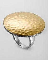 John Hardy | Metallic Palu Silver Gold Round Ring Large | Lyst
